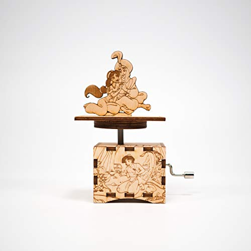 Aladdin Music Box - A Whole New World - Laser cut and laser engraved wood music box. Perfect gift, memorabilia or ()