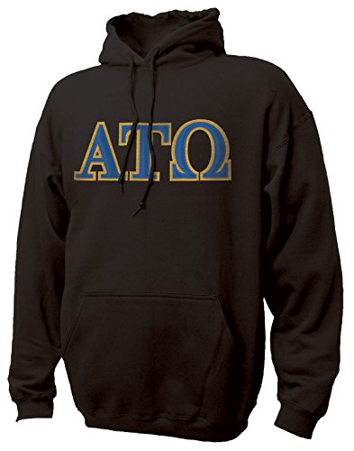 Campus Classics Alpha Tau Omega Hooded Sweatshirt with Sewn On Greek Letters X-Large Black (Alpha Tau Omega Sweatshirt compare prices)