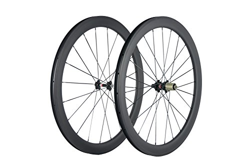 Superteam Carbon Fiber Clincher Road Bike Wheelset 700C25 Matt Finish 1 Pair by Queen Bike