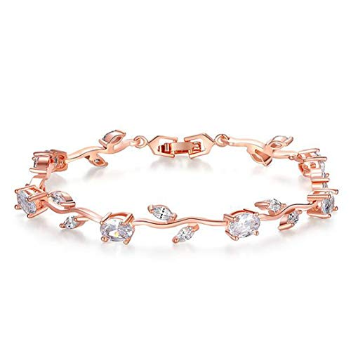 Jewels Galaxy Copper Charm Bracelet for Women  Rose   CT BNGS 49030