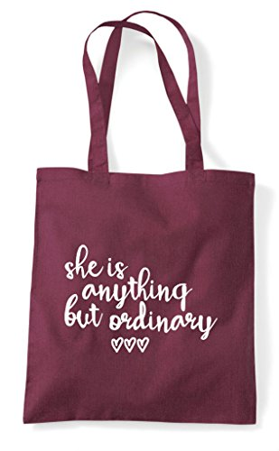 Shopper Is Anything Tote Ordinary But Statement Burgundy Bag She PFanq0Tdx0
