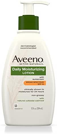 Aveeno Daily Moisturizing Body Lotion With SPF 15, 12 Fl. Oz