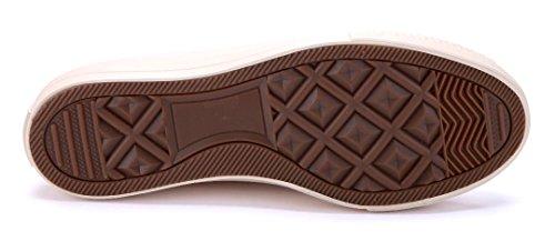 Schuhtempel24 Damen Schuhe Low Sneaker Flach Beige