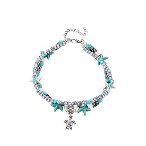 OULII Sea Star Bracelet Anklet Foot Jewelry for Women Girls