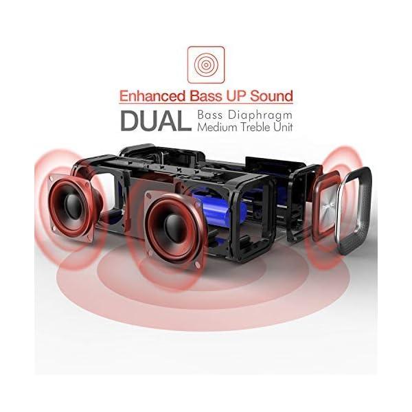 HAVIT V4.2 Enceinte Bluetooth Portable Puissante, Haut Parleur Bluetooth pour Bluetooth, Entrée Filaire, Carte TF -Noir 2