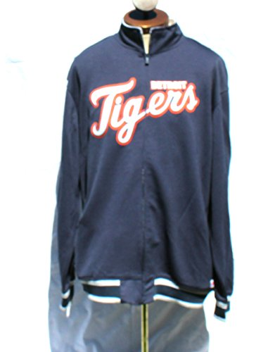 Detroit Tigers Hooded Jacket - Detroit Tigers Full-zip Track Jacket Size Large
