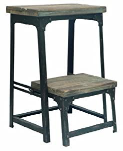 Crestview Collection Industrial Step Stool  sc 1 st  Amazon.com & Amazon.com: Crestview Collection Industrial Step Stool: Kitchen ... islam-shia.org