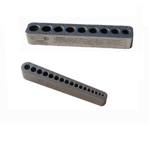 Big Gator Tools BGT V-drill 2 Pack V-drillguides W/25 SAE (Standard) Hole Sizes 1/8