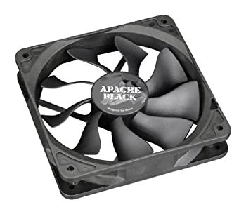 Akasa Apache Black 120 mm Cooling Fan S-Flow Design IP54 Rated