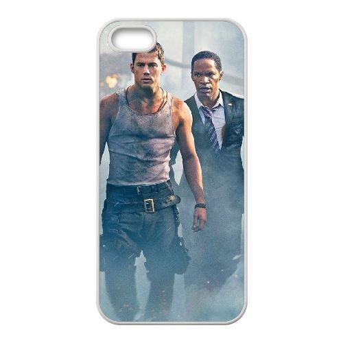 White House Down 1 coque iPhone 4 4S cellulaire cas coque de téléphone cas blanche couverture de téléphone portable EOKXLLNCD20720