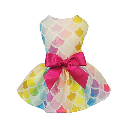 Fitwarm Fairy Mermaid Pet Clothes Dog Dresses Sundress Cat Vest Shirts XS