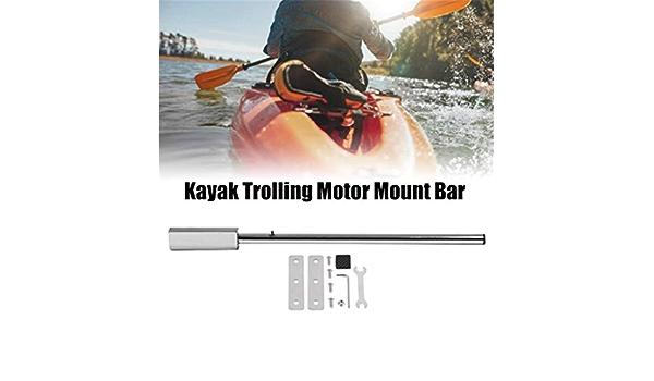 Negaor 91cm Stainless Steel Kayak Trolling Motor Mount Bar with Hardware