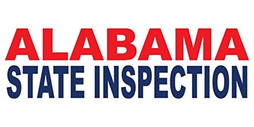 Alabama State Inspection Red Blue DECAL STICKER Retail Store Sign Sticks to Any Surface ()