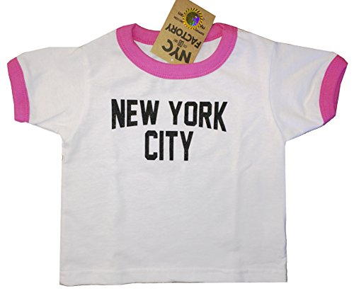 New York City Toddler John Lennon Ringer NYC Baby Tee Beatles T-Shirt White P. Baby Screen Ringer Tee