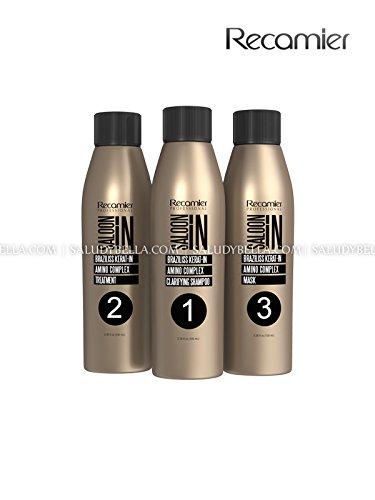 Keratin Braziliss Treatment Professional No Formol, No Frizz, No Damage the Hair 3.4ounces (100 mililiter) x 3