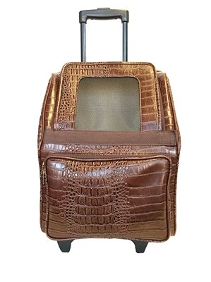 Rio Bag On Wheels (Brown Croco) by Petote