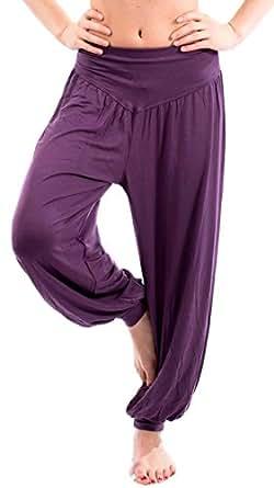 OYMMENEY Women's Modal Elastic Soft Fitness Yoga Harem Pants