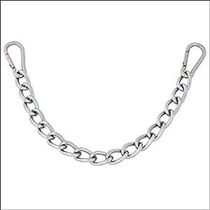Hilason 9-1/2in X 3.5mm Easy Clip Curb Bit Chain Heavy Duty Chrome Steel Snap