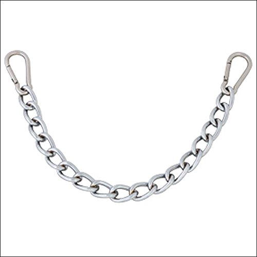- HILASON 9-1/2 Western Easy Clip Curb BIT Chain Heavy Duty Chrome Steel W/SNAP
