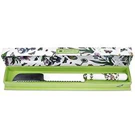 "Portmeirion Botanic Garden Bread Knife 95 Comes in Decorative Gift/Storage Box 13.25"" in Length Fine Porcelain and Stainless Steel"