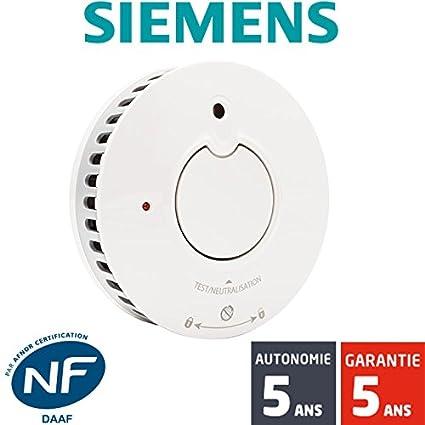 Siemens - Detector de humo NF Siemens Delta Reflex 5TC1292-1, autónomo
