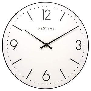 "NeXtime Reloj de pared ""BASIC DOME"", muy silencioso, redondo, blanco, ø 35 cm 3"