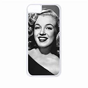 diy zhengMarilyn Monroe Laughing -Color- Hard White Plastic Snap - On Case-Apple Ipod Touch 5 5th Only - Great Quality!