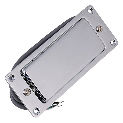 lovermusic Silver Mini Double Coil Humbucker Electric Guitar Pickup Closed 92x37mm