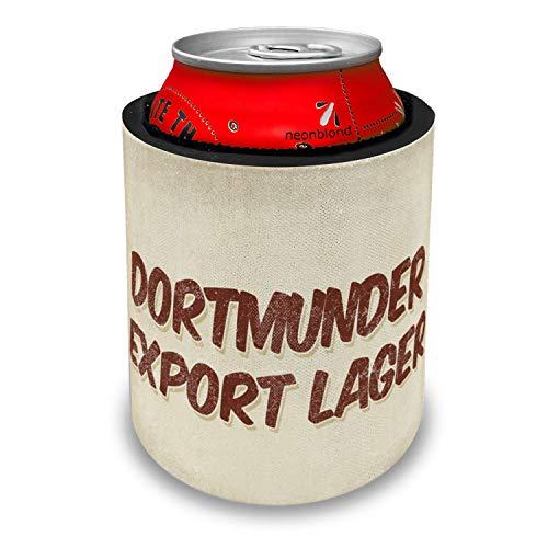 NEONBLOND Dortmunder Export Lager Beer, Vintage style Slap Can Cooler Insulator ()