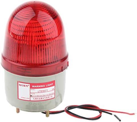 ストロボ/常時点灯 LED点滅ライト 警告灯 フラッシュライト 非常灯 12V 信号ライト 高輝度 - 赤