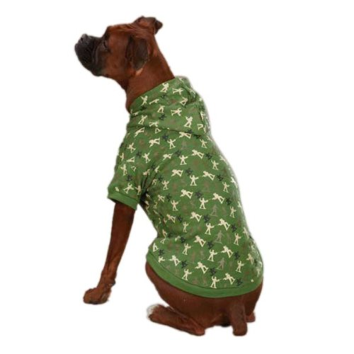 (Zack & Zoey Polyester/Cotton Special Ops Dog Hoodie, Teacup, Army Green)