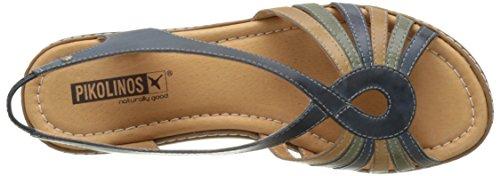 Pikolinos Women's Alcudia W1l_v17 Wedge Heels Sandals Blue (Ocean) ZwoCR37