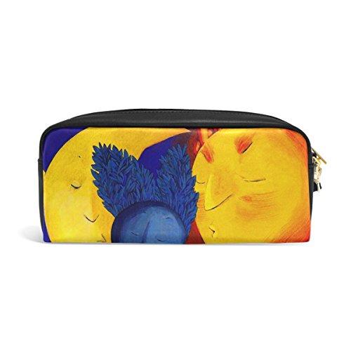 bennigiry Elegante Trippy Art Nature große Kapazität Federmäppchen Kids Kinder Studenten Stift Tasche Tasche für Reisen Schule & Kosmetiktasche, klein Einheitsgröße Multi#002 Multi#003