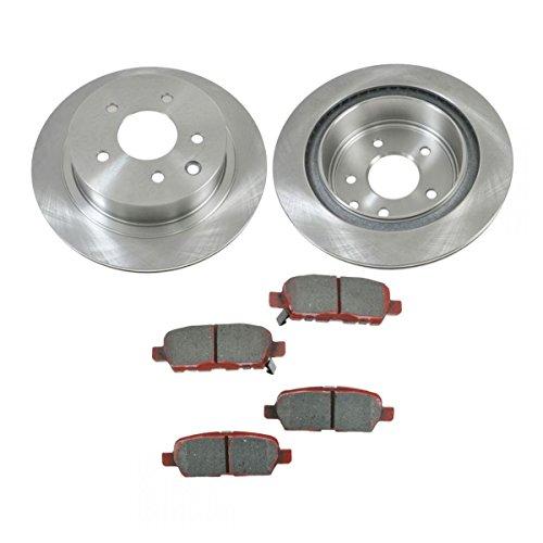 Rear Brake Rotor & Premium Posi Ceramic Pad Kit Set for Nissan 350Z G35 ()