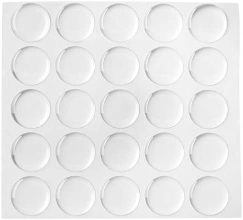 50 1 Inch Circle 3D Dome Epoxy Stickers for Bottle Caps