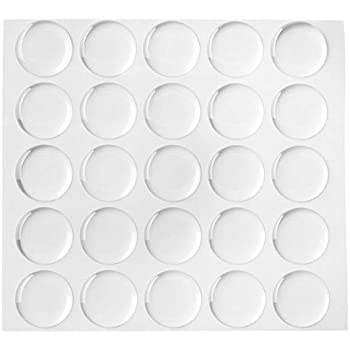 Beadaholique 100 piece epoxy stickers for bottle cap pendants 1 inch clear