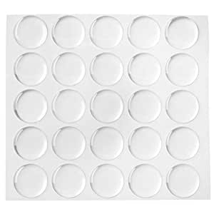Beadaholique 50-Piece Epoxy Stickers for Bottle Cap Pendants, 1-Inch, Clear