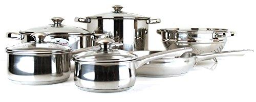 Magefesa Vesta - Batería de cocina de acero inoxidable (10 piezas)