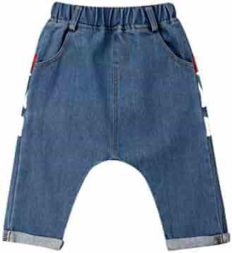 0ce21db25fb3 Kid Toddler Baby Boy Girl Long Harem Pants Loose Shark Trousers Bottoms  Elastic Waist Baggy Jeans