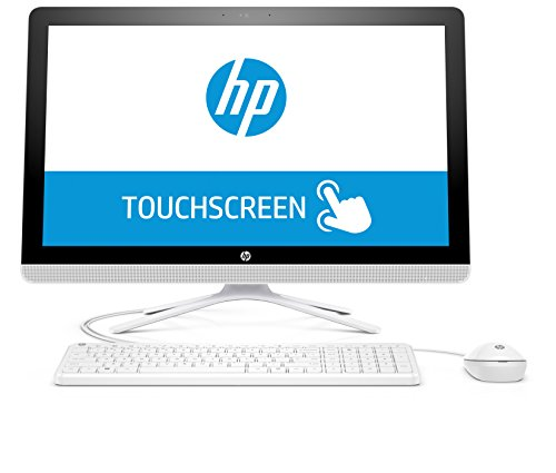 HP 22-b052ng (X0Y29EA) 54,6 cm (21,5 Zoll / FHD IPS Touchscreen) All in One Desktop PC (AMD Quad-Core A6-7310 APU, 4GB RAM, 1 TB SSHD, AMD Radeon R4-Grafikkarte, Windows 10 Home 64), Weiß