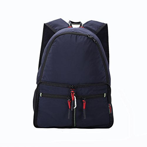 Daygos Lightweight Multipurpose Daypack Foldable Backpack Travel Bag Dark Blue