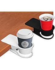 Supercope Drinking Cup Holder Clip- Table Bottle Cup Stand The DIY Glass Clamp Storage Saucer Clip Water Coffee Mug Holder Saucer Clip Design for Home & Office