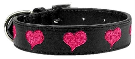Mirage Pet Products Embroided Heart Pet Collar, Large