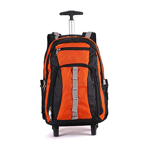 TONGSH 22 Inch Water Resistant Travel School Business Rolling Wheeled Backpack with Laptop Compartment Bag, Carry On Luggage with Spinner Wheels (Color : C, Size : 20IN) ()