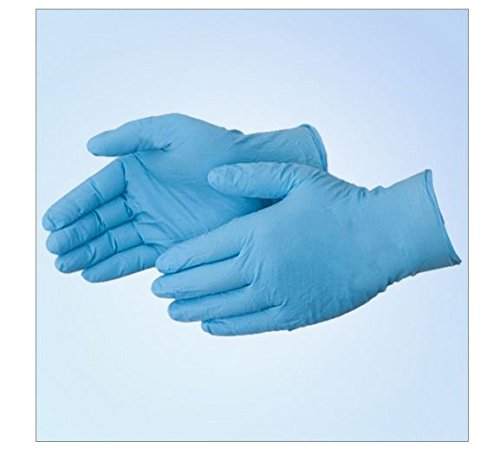 Blue Nitrile 8 Mil Industrial Gloves, PF, 2XL, 500/case