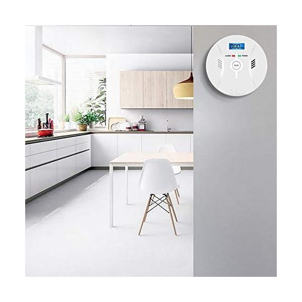 41tKSMUFE7L Kohlenmonoxid Warnmelder mit LCD Display CO Melder Lauter 85 Db Alarm Kohlenmonoxid Melder mit Kohlenmonoxidsensor…