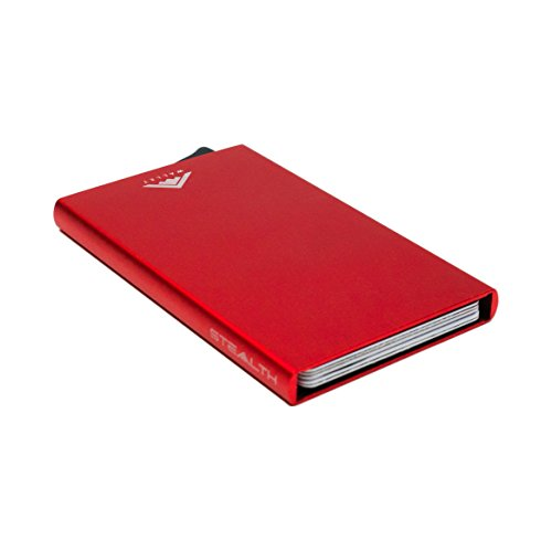 2018 Card Red Blue Wallet Holder clip Aluminium with Ejector STEALTH RFID Blocking Credit MODEL IMPROVED JUNE v4 by money 6UqxOwt