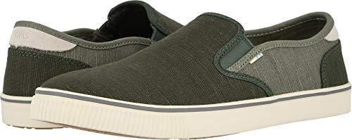 TOMS Men's Baja Slip-On Shoes, Size: 13 D(M) US, Color: Blk F/Lichen Grn HRT