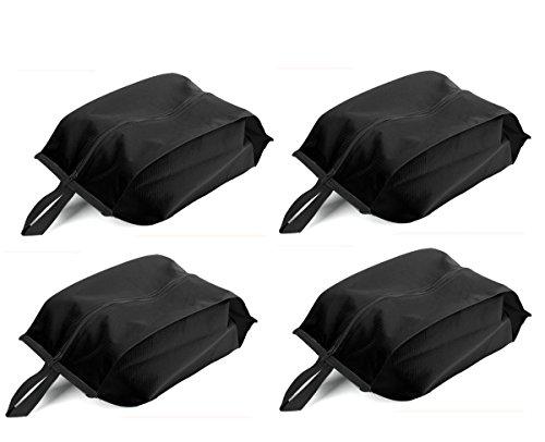 Bekith 4 Stück Schuhbeutel aus Nylon, 19x37cm, schwarz