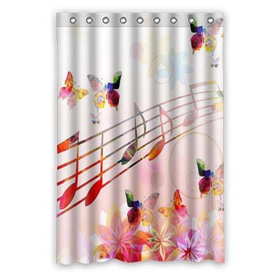 Dalliy Nota Musical disfraz cortina de la ducha Shower Curtain 120 ...